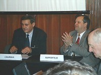Marius-Ioan Piso, ROSA President and CEO and Dumitru Prunariu, Romanian Astronaut and Chairman of COPUOS 2010-2011