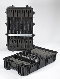 Weapons racking case