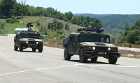 ARCH System - lead and chase HMMWV