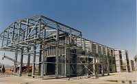 test cell under construction