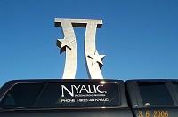Nyalic coated statuary