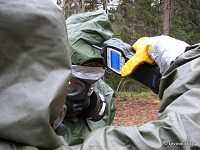 ChemPro100 screening chemical residues from decontamination personnel