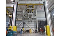 Cargo Vator jet engine predress bay
