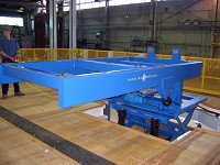 Airplane wing material handling solution