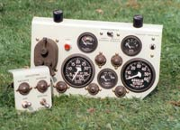Control panel for battle tank.